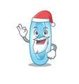 cartoon character klebsiella pneumoniae santa vector image vector image