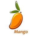 Cartoon mango fruit sketch vector image