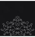 Chalk decorative ornament vector image vector image