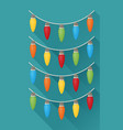 christmas light flat icon with long shadow vector image