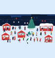 christmas market or holiday outdoor fair on town vector image