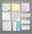 collection of paper notes of vector image