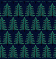 colorful seamless pattern with christmas tree vector image vector image