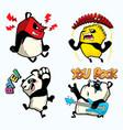 cute panda sticker panda patches vector image vector image