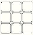 decorative frames set 60 vector image vector image