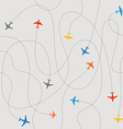 Different plane ways abstract scheme vector image vector image