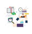 evaluation and feedback in financial vector image vector image