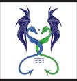 fantasy dragon emblem vector image vector image