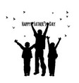 fathers day children people birds symbol vector image