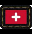 flag of switzerland icon on black leather vector image