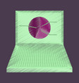 flat shading style icon laptop chart vector image vector image
