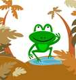frog in forest vector image vector image