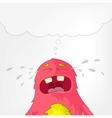 Funny Monster Cry vector image vector image