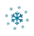 Grunge snowing icon vector image vector image