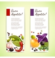 Herbs and spices banners vertical vector image vector image