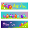 holiday banners easter vector image
