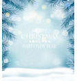 holiday christmas background with a snowflakes vector image vector image