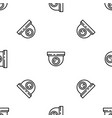 indoor secyrity camera pattern seamless vector image