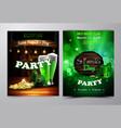 irish holiday saint patrick s day party poster vector image