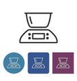 kitchen scales line icon in different variants vector image vector image