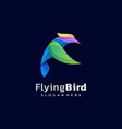 logo bird gradient colorful style vector image vector image