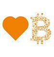 love bitcoin symbol vector image vector image