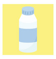 milk bottle on white background vector image vector image