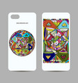 mobile phone cover design ethnic mandala vector image vector image