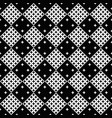 monochrome seamless abstract star pattern vector image vector image