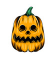 monster yellow pumpkin with round hole vector image vector image