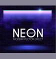 neon shining lamp brick wall and magic reflection vector image