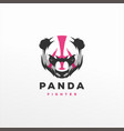 panda gaming sports logo design vector image vector image