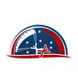 parachutist logo design template vector image