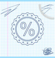 percent symbol discount line sketch icon isolated vector image vector image