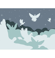 Pigeon in the Clouds vector image vector image