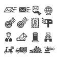 postal icon vector image vector image