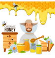 poster template of apiary theme vector image