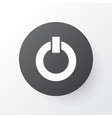 power on icon symbol premium quality isolated vector image vector image