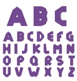 Purple Creative alphabet vector image vector image