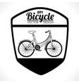Ride a bike vector image vector image