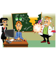Scientific experiment cartoon vector image vector image