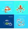 Sea Food Icon Flat vector image vector image