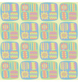 seamless abstract pattern in pastel colors vector image