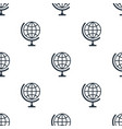 seamless globe pattern education symbol from icon vector image vector image
