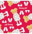 seamless pattern kawaii baby girl
