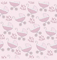 seamless pattern with pink strollers vector image