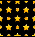 seamless pattern with stars and coins vector image vector image