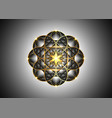 seed life symbol sacred geometry gold luxury vector image vector image