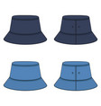 set color with denim panama hat vector image