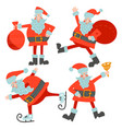 set different character cute santa claus vector image
